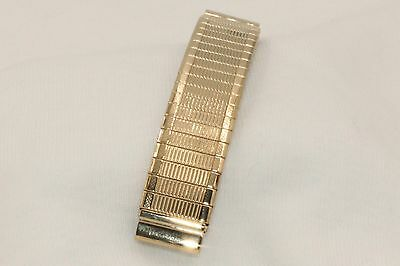 "Mens 3 & 1/8"" Gold Fill Stretch Watchband for Native American Indian Watch"