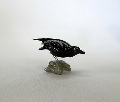 Vintage 1987 Hagen Renaker Crow on Rock Mint Condition
