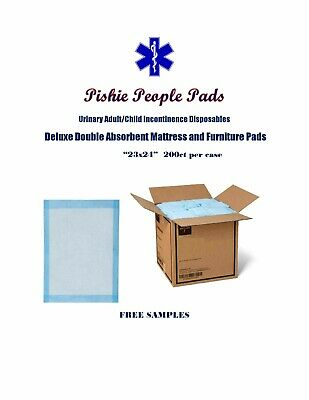 "200-23x24"" Pishie Deluxe Double Absorb Disposable Urinary Incontinence Pee Pads"