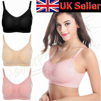 Seamless Nursing Maternity Bra Breastfeeding Removable Pads Comfortable Drop Cup