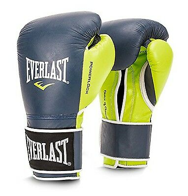 Everlast P00000731 Powerlock Training Glove Navy/Green 14 oz