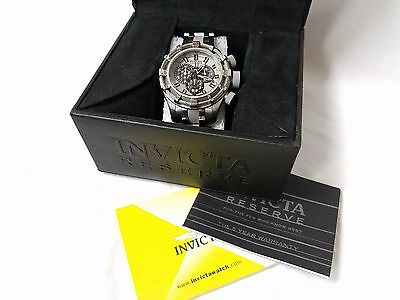 Invicta Reserve Model 0968 Men's Bolt Chronograph 9/10 CONDITION FLAWLESS GLASS
