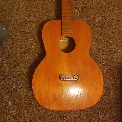 1909 antique homemade guitar