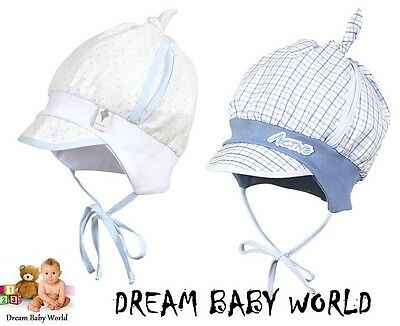 RICH Cotton spring summer Baby boys sun HAT 0 - 18 months TIE UP Cap BOY