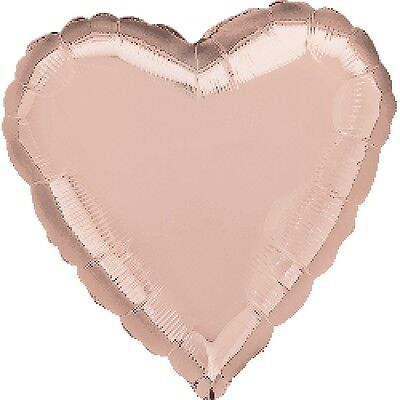 Party Supplies  Birthday Engagement Baby Rose Gold 45 cm Foil Heart Balloon