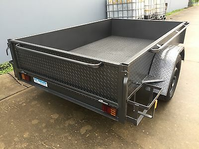 BRAND NEW Australian made single axle bike Box Trailer 8X5 40cm HIGH SIDE