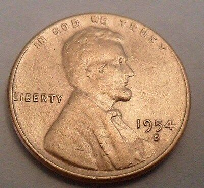 1954 S Lincoln Wheat Cent / Penny  **FREE SHIPPING**