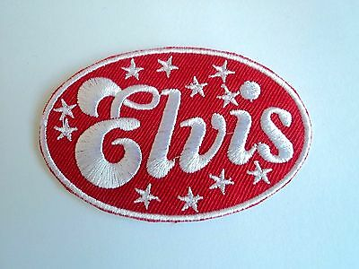 1x Elvis Presley Patch Rock Band Embroidered Cloth Applique Badge Iron Sew On