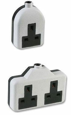 Rubber Extension Lead Socket End Single Gang Socket Twin Double Socket 13Amp