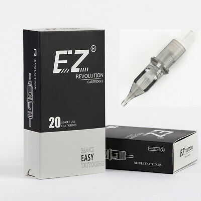 EZ New Revolution Tattoo Needle Cartridge Round Liner Long Taper #10 Bugpin