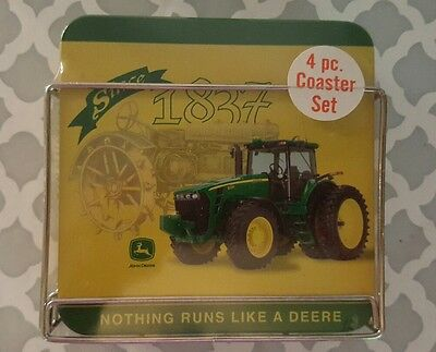 JOHN DEERE 4 PIECE COASTER SET Since 1837 t14