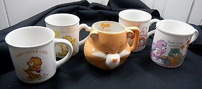 Vintage American Greetings Designers Collection Care Bears Coffee Mug Lot of 5