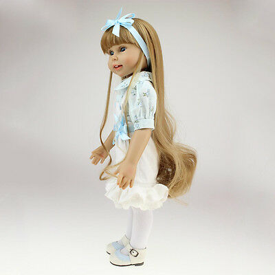 Lifelike Full Body Vinyl Doll Baby Toy 18'' American Toddler Baby Girl Gifts