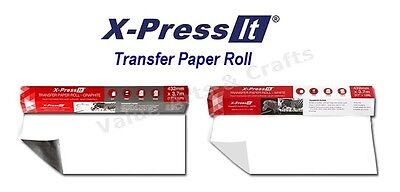 X-Press It Transfer Paper Roll 432mm x 3.7M (Available in Graphite and White)