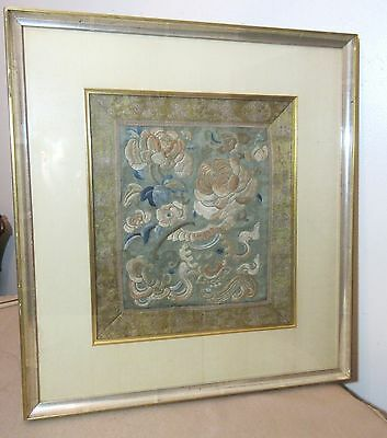 antique hand made 1800s ornate Qing Dynasty needlepoint embroidery tapestry art