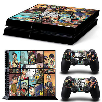 GTA Doraemon PS4 Playstation 4 Console Controller Skin Sticker