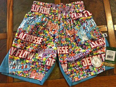 Boy's Flow Society Jelly Beans Lacrosse Athletic Shorts - NWT - Size Youth XS