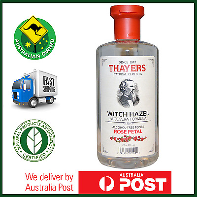 Thayers Witch Hazel Alcohol-Free Mens Skin Cleanser Toner Rose Petal - AUS STOCK