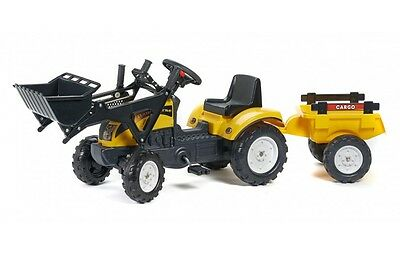 NEW Genuine Ride On Pedal Tractor with Loader, & Trailer Yellow 2-4 yrs
