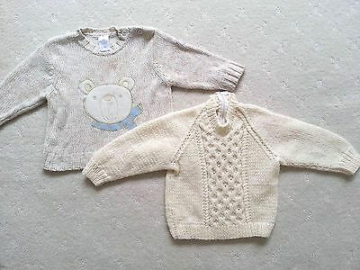 Pre-Loved Baby Boys Knitted Jumper, size 00 in Great Used Condition