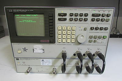 Agilent HP 3577A Network Analyzer w/ 35677A S-Parameter & interconnect cables