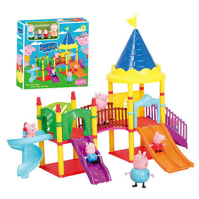 Peppa Pink Pig Playground Children's Slide Play Set With Figures  Kid Gift