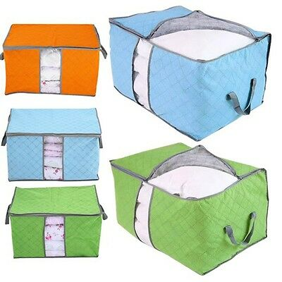 Closet Pillow Bedding Blanket Foldable Storage Bag Container Case Organizer