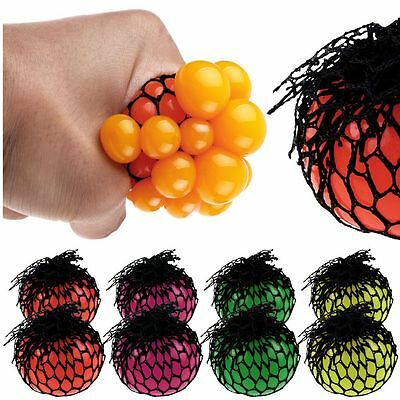 Squishy Mesh Ball Grape Squeeze Toy Gag Gift Novelty In Sensory Fruity Kid Play~