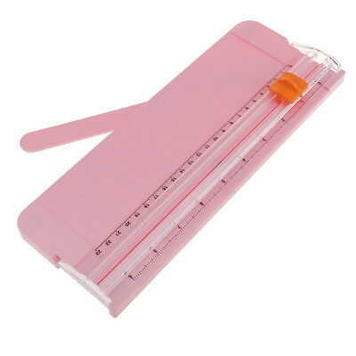Portable A5 Guillotine Ruler Paper Cutter Trimmer Cutter Scrapbook Pink