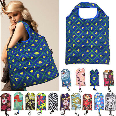 Foldable Women Reusable Bag Storage Travel Shopping Tote Laundry Bags Lady