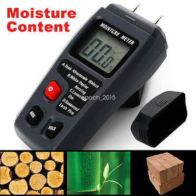 0~99.9% Digital Moisture Meter Wood Log Firewood Humidity Conductivity Detector