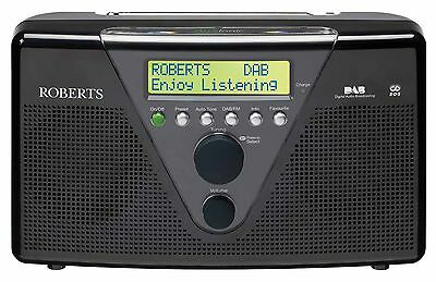 Roberts DUOLOGIC in Black DAB/DAB+/FM RDS stereo digital radio