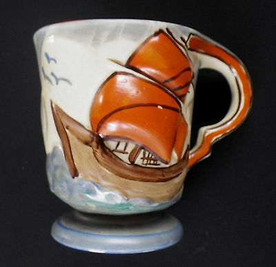 c.1930 Wadeheath Galleon Hand Painted Tankard A991