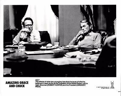 "Gregory Peck, Robert Harper ""Amazing Grace and Chuck"" Vintage Still 1987"