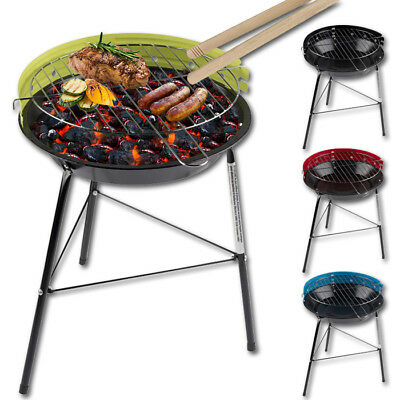 Holzkohlegrill inkl. Grillzange Grill klein Festival BBQ Standgrill Campinggrill
