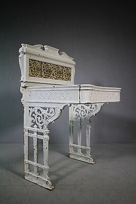 Complete 19th Century Antique Cast Iron Sink Stand.