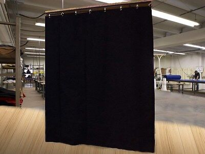 Economy Black Curtain Panel/Backdrop/Partition, 12 H x 4½ W, Non-FR