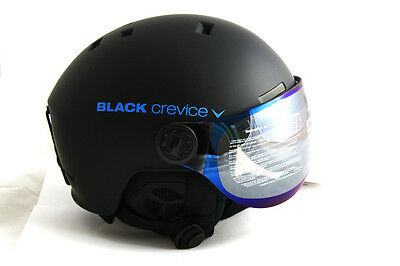 Black Crevice Visier Skihelm Gstaad, Black/blue, 51-54 cm, BCR143921-BB-0 *NEU*