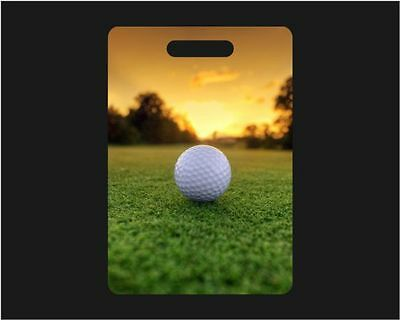 Set Of 2 Golf Ball Sunset Personalized Luggage / Bag Tags - Golfer, Travel