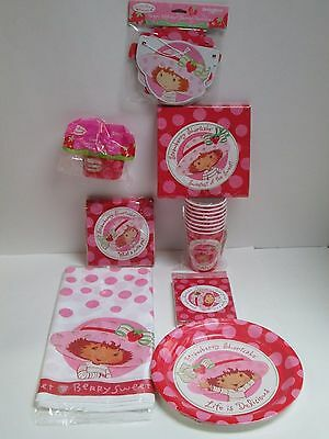 Strawberry Shortcake Birthday Party Set  - 10 Packages Of Party Supplies
