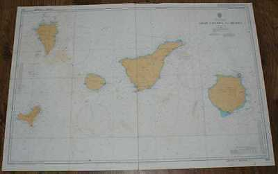 Nautical Chart No. 1869 Islas Canarias - Gran Canaria to Hierro 1986
