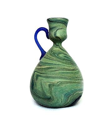 Exquisitely Shaped , Marbled Colors Blown Glass, Ancient Roman Style