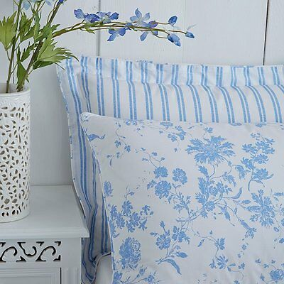 Charlotte Thomas Amelie Toile Housewife Pillowcases in Blue
