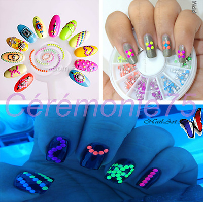 Carrousel 400 Strass Fluo 3D Ongles Nail Art Manucure