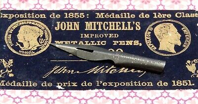 Lots of 10 EF John Mitchell Vintage Dip Pen Nibs # 0100 For $7.00