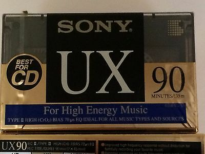 Sony UX Type II - 90 - Blank Audio Cassette Tapes - Pack of Nine - New - Sealed