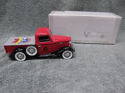 Liberty 1935 Ford Pick Up New Holland 1995 1/25 Scale Coin Bank