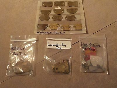 Lot of (34) Vintage Dog License & Vaccination Tags PENNA, NEW ORLEANS