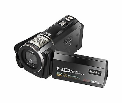 Video Camcorder Besteker Portable 1080P HD Camera DV 3.0 Inches Touch Screen ...