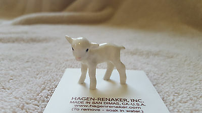 Hagen Renaker,Lamb,White,Gift,Figurine,Miniature,New,2017,Free Shipping,00276